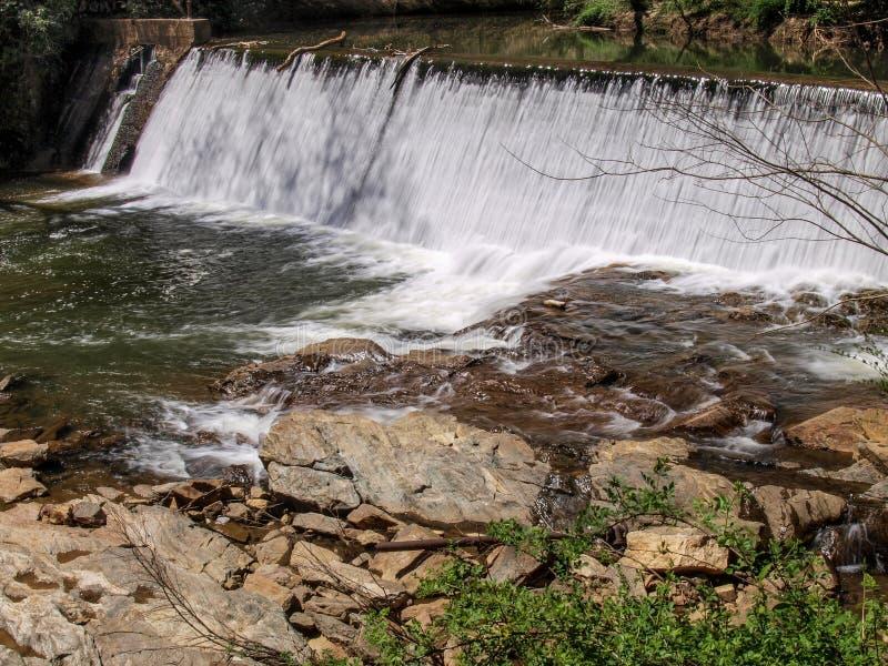 Dam along Elkin & Alleghany Rail Trail stock photography