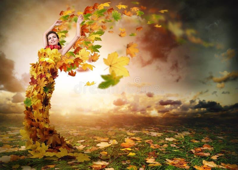 Dam Autumn med vingar fotografering för bildbyråer