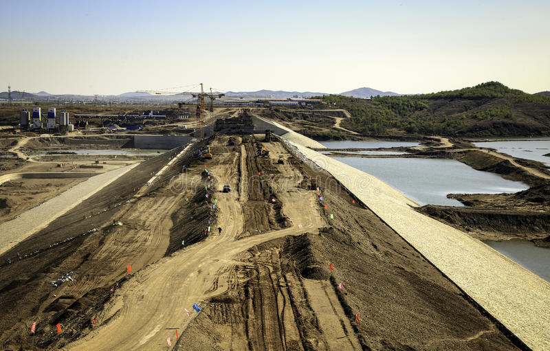 Download A dam being built stock image. Image of path, water, nature - 27141727