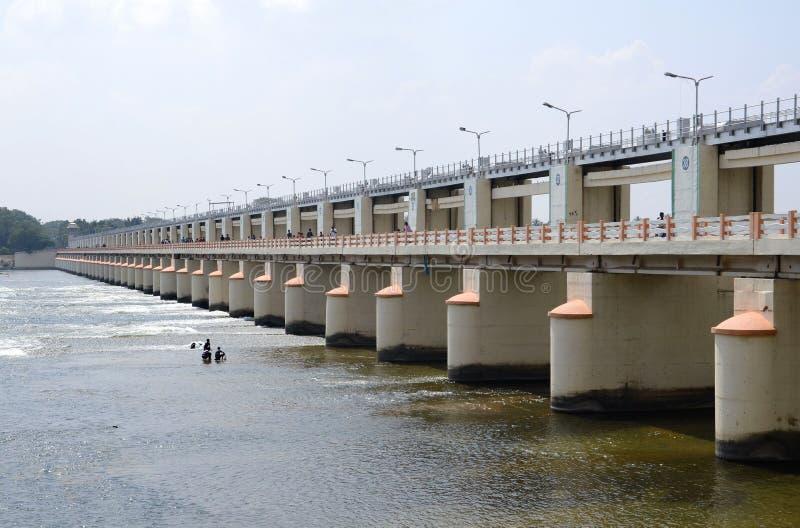 DAM. A Big Dam mukkombu in Tamil nadu, south india stock photos