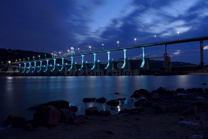Dam and bridge royalty free stock images