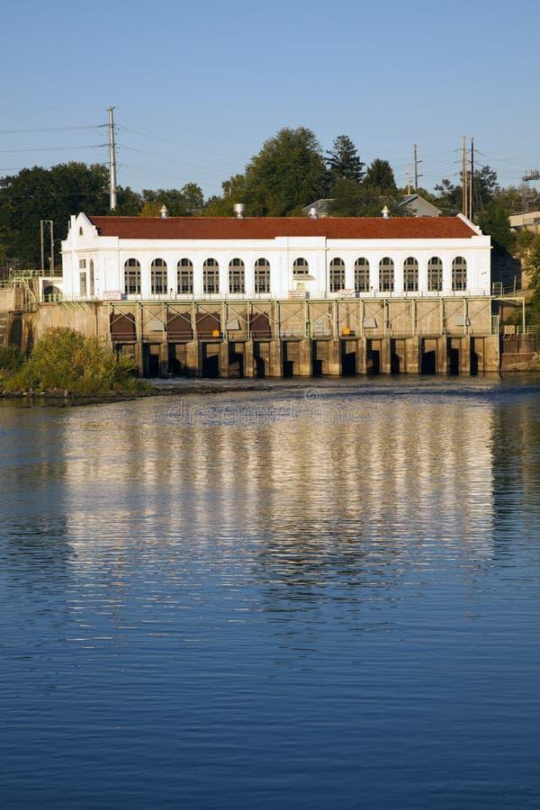 Dam in Dells van Wisconsin stock foto