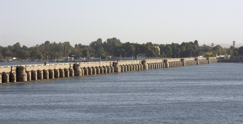 Dam in Esna royalty-vrije stock afbeelding