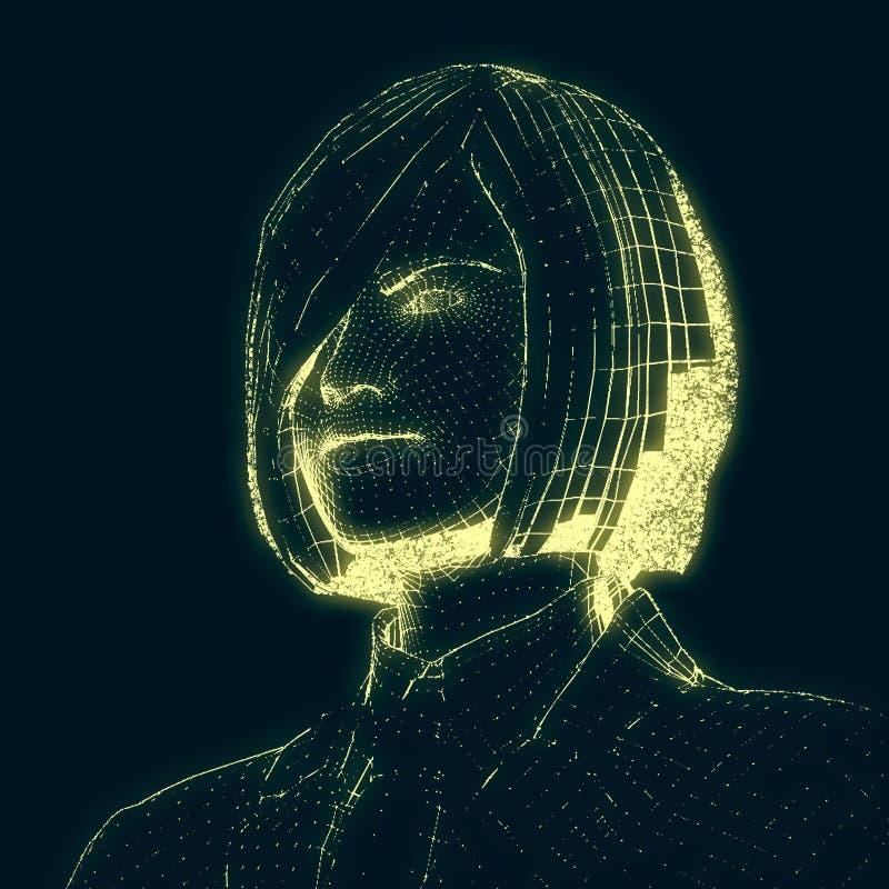 Dam från ett raster 3d arkivbild