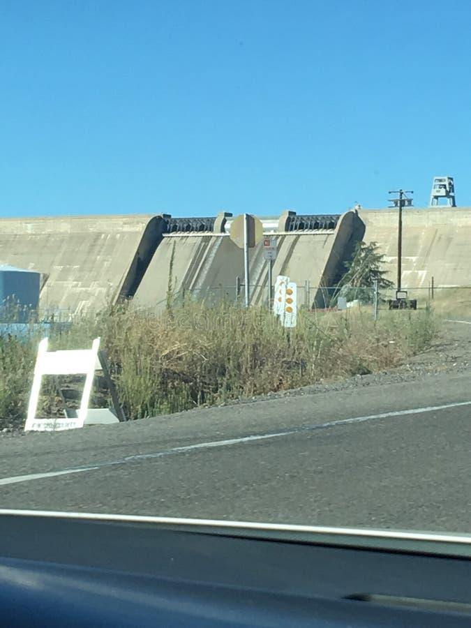 Dam Fresno water royalty free stock photography