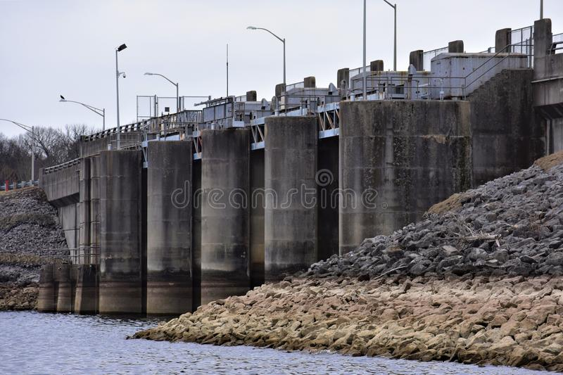 Dam Intake Gates, J Percy Priest Lake, Nashville, Tennessee foto de stock royalty free