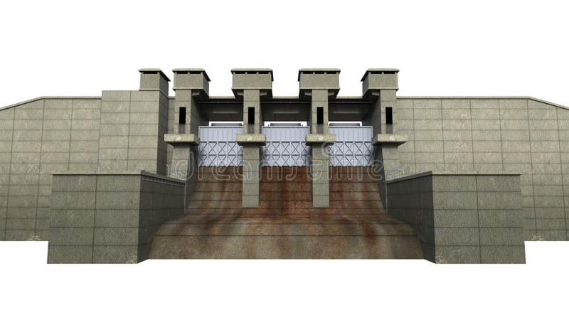 Download Dam Isolated On White Background Stock Illustration - Image: 30901763