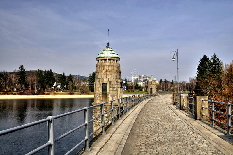 Dam from Jablonec nad Nisou royalty free stock image