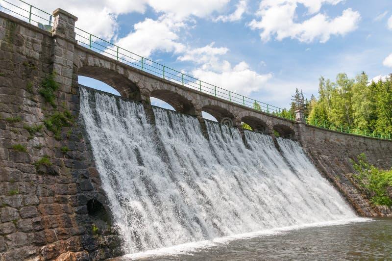 Dam in Karpacz. Dam on the Lomnica River in Karpacz, Poland stock image