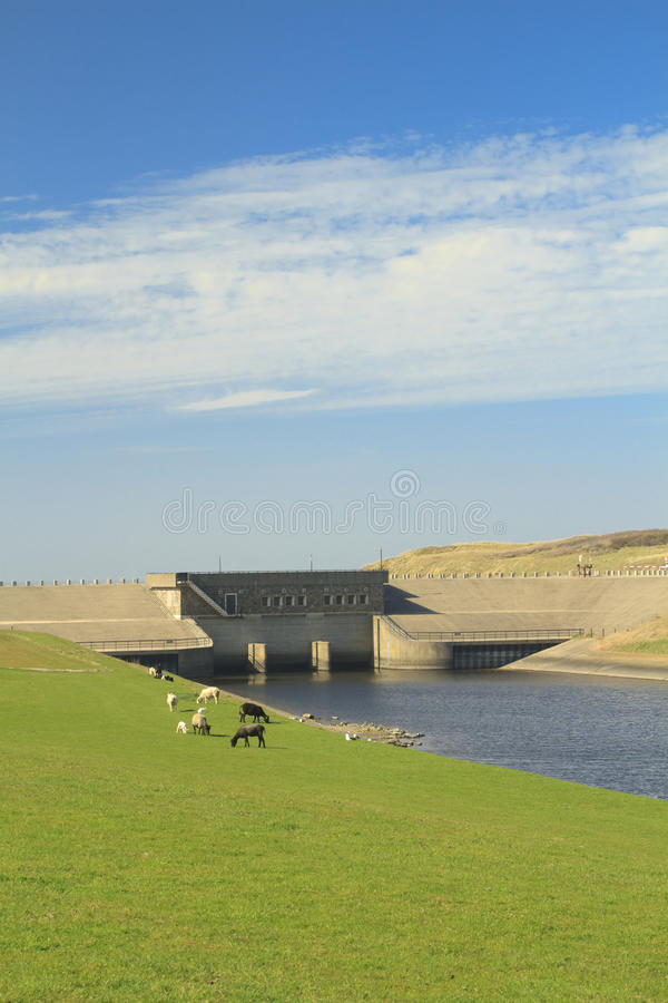 Dam in Katwijk on the sea stock photography
