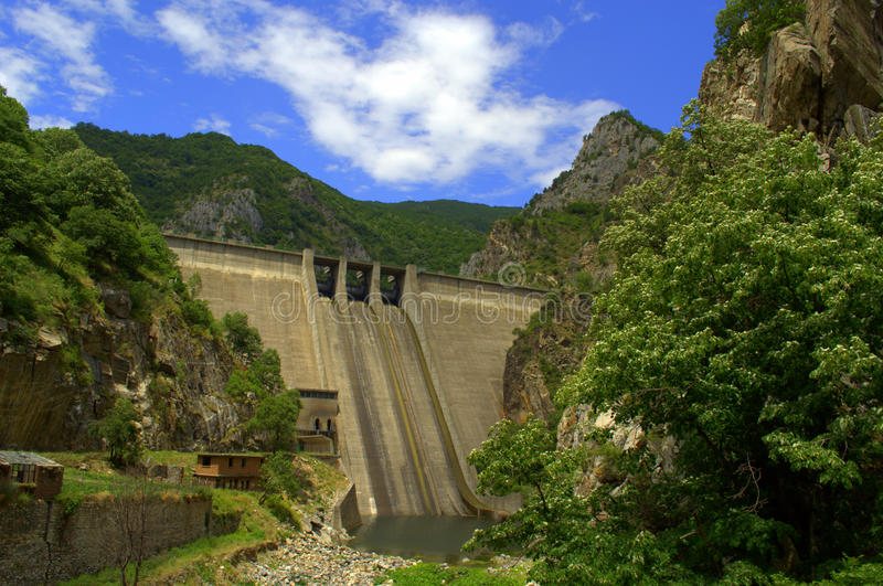 Dam. Krichim is a dam on the river Vacha in Southern Bulgaria , situated 10 km south of Krichim . It was built in 1972 to generate electricity . Is a component royalty free stock photography