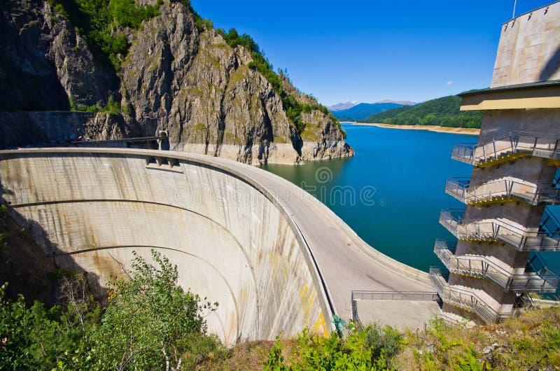 Dam lake Vidraru, Romania stock images