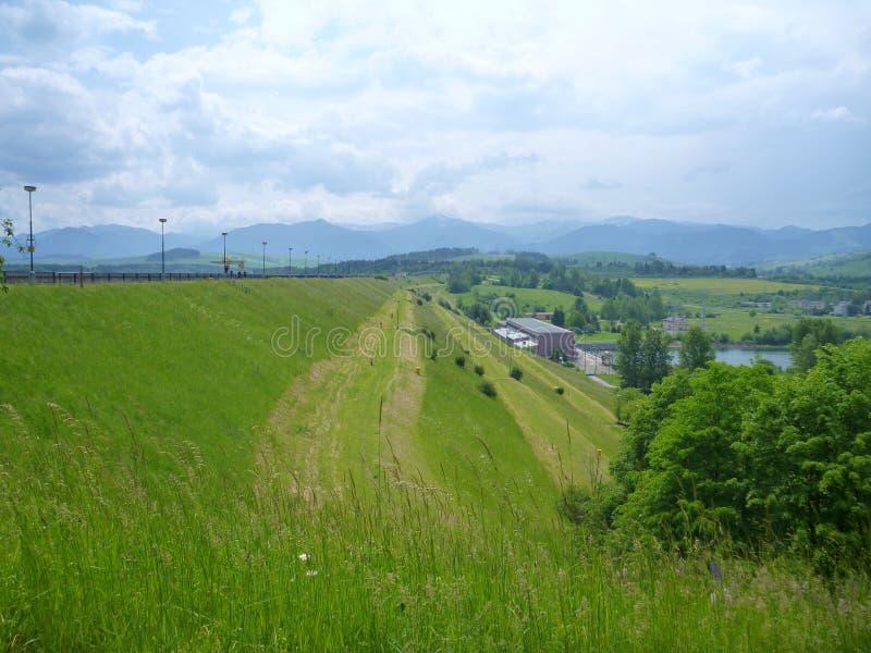 Dam Liptovska Mara in Slovakia royalty free stock photography