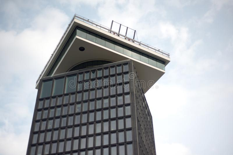 A`DAM Lookout`s tower in Amsterdam. stock image
