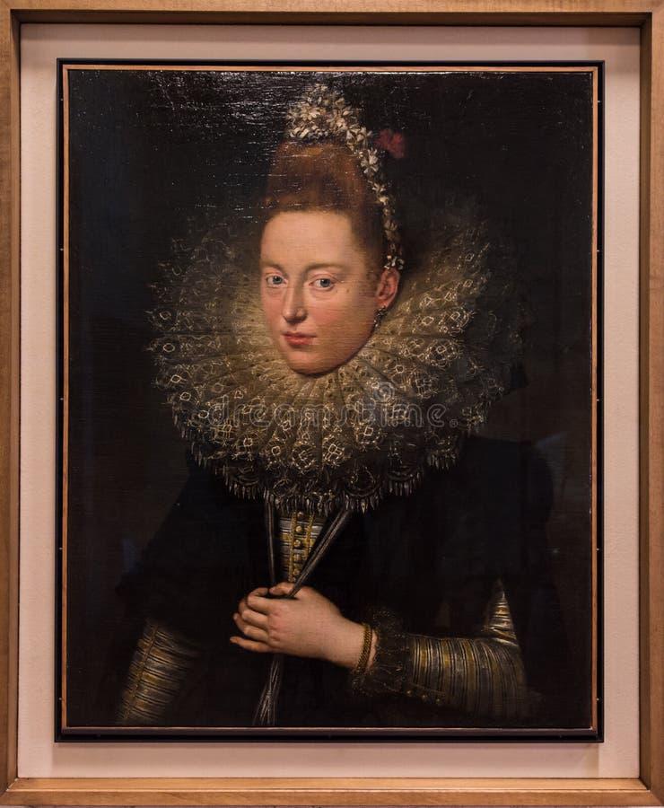 Dam med glim av Peter Paul Rubens arkivbild