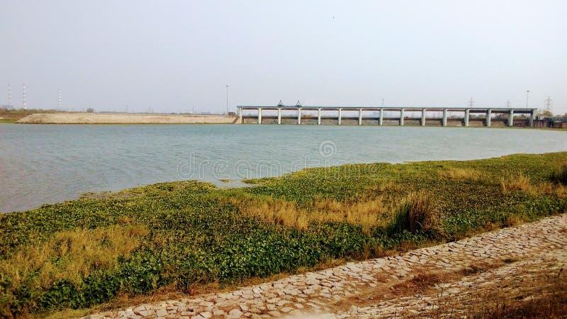 Dam. Mega construction of dam stock images