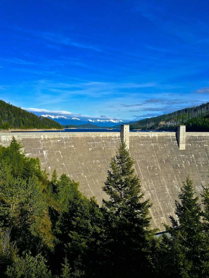 Dam in Montana royalty free stock photography