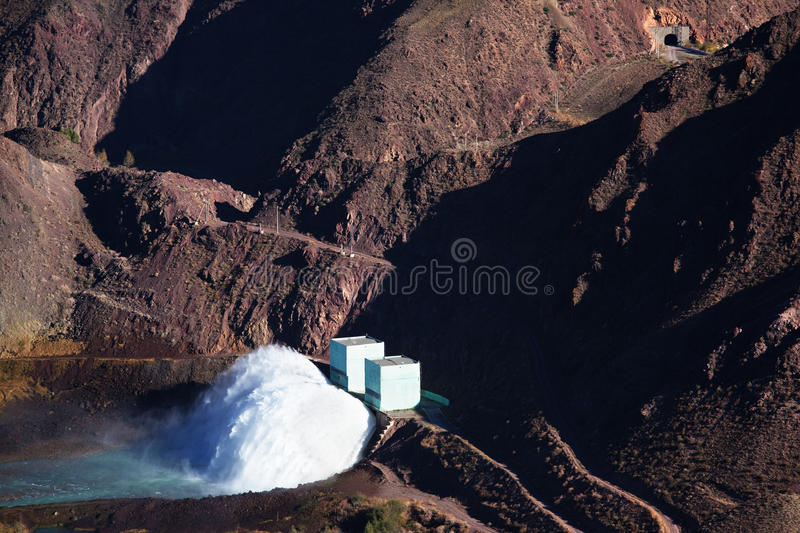 Dam on a mountain river stock images