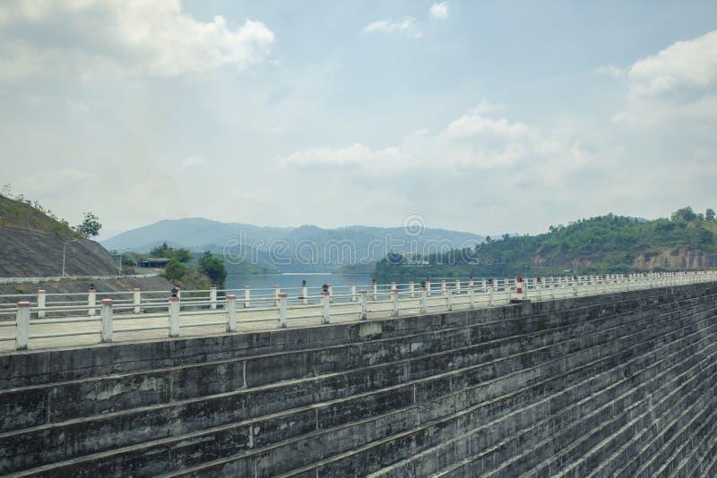 The dam on the mountain stock photos