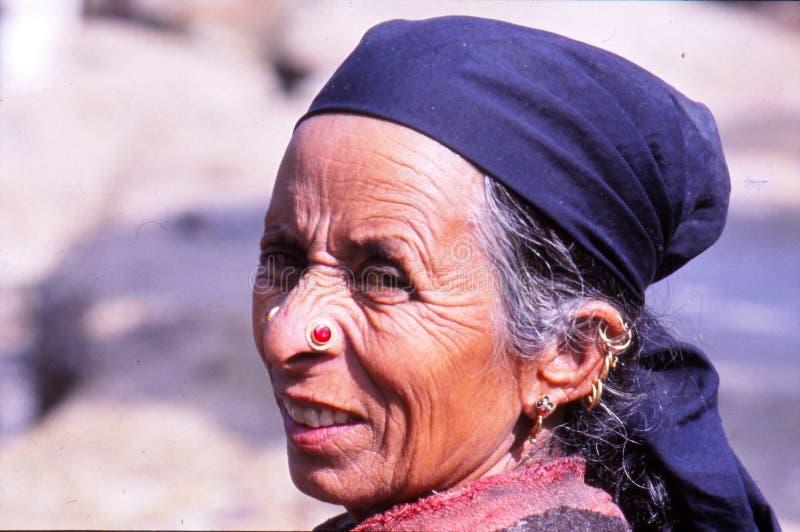 Dam på festivalen i Ladakh, Indien royaltyfri bild