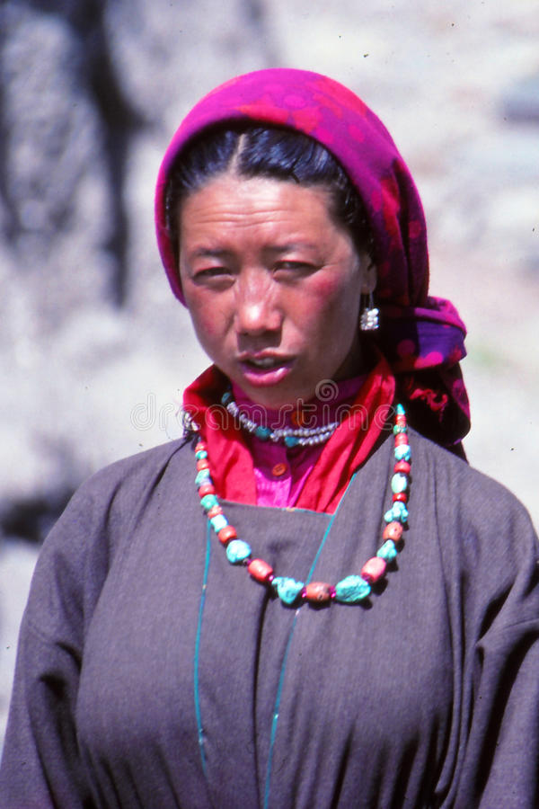 Dam på festivalen i Ladakh, Indien royaltyfria foton
