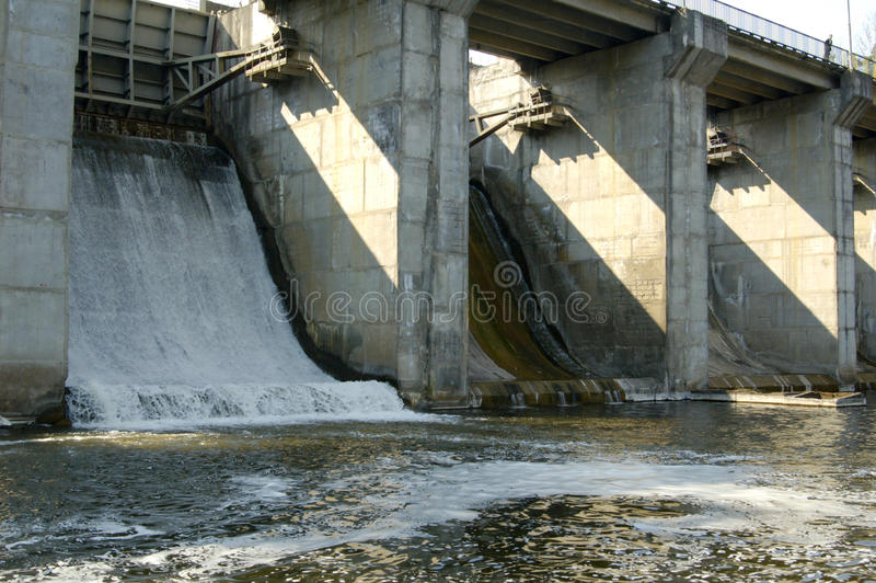 Download Dam on the river stock image. Image of falling, technology - 9436767