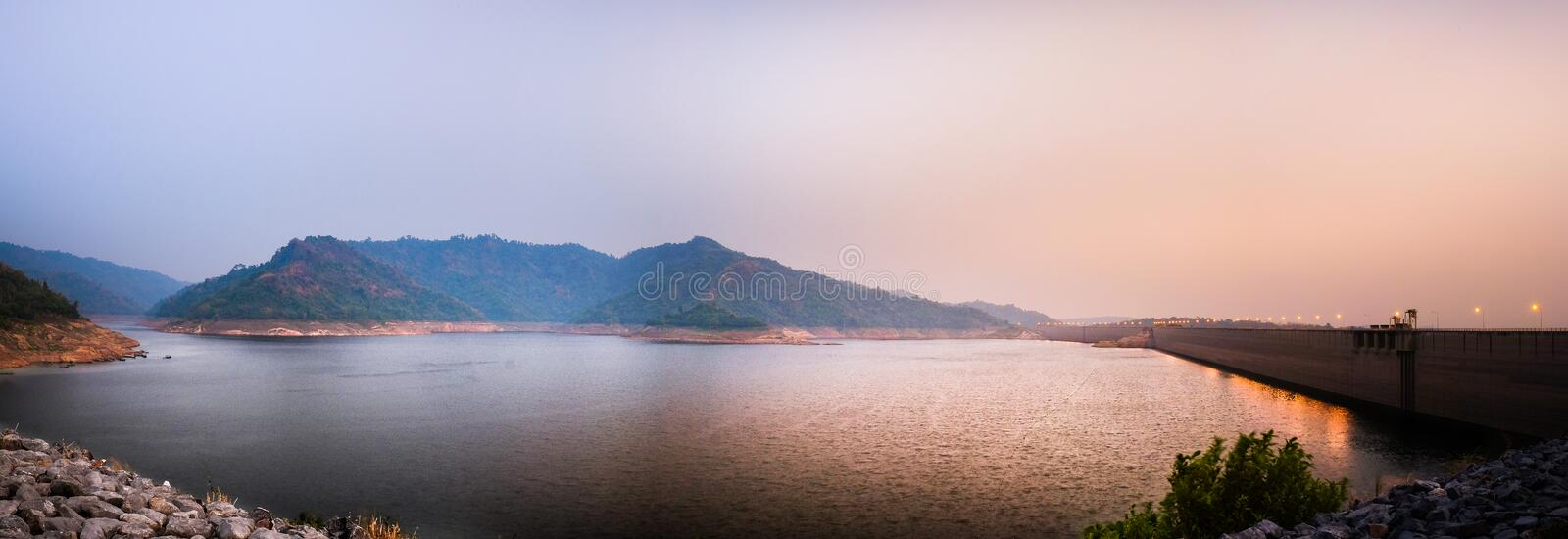 Dam on a river in the mountains. Nakhon Nayok royalty free stock photography