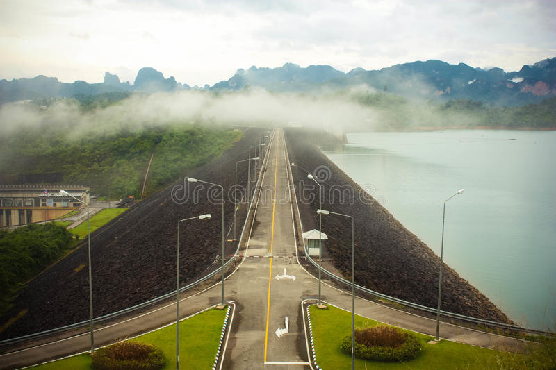 Download Dam Road stock image. Image of hydroelectric, tree, cloud - 26543853