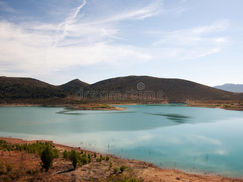 Dam of San Clemente Huescar. Andalusia Spain royalty free stock photography