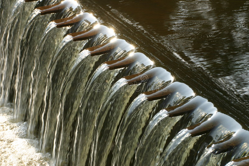 Dam in small river stock photos
