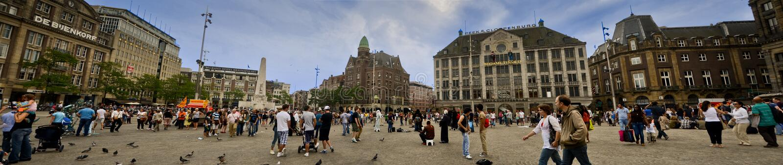 Dam Square in Amsterdam royalty free stock image