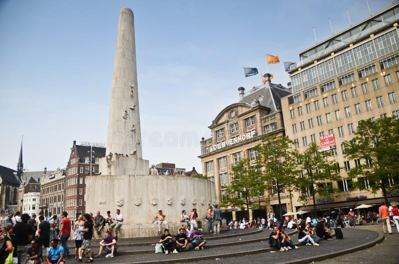 Dam Square Monument stock image