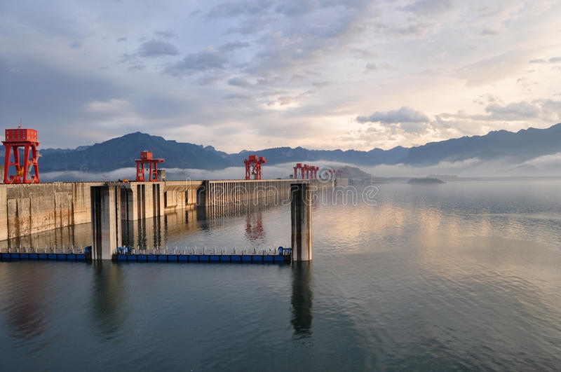 Dam at three gorges. Dam at Sanxia three gorges in China is a great project