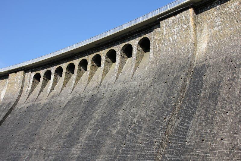 Dam van Aggertalsperre stock foto