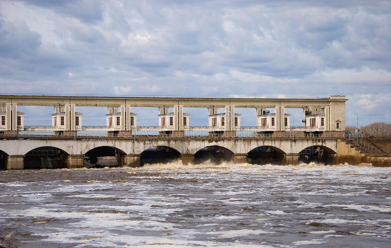 The dam on the Volga royalty free stock images
