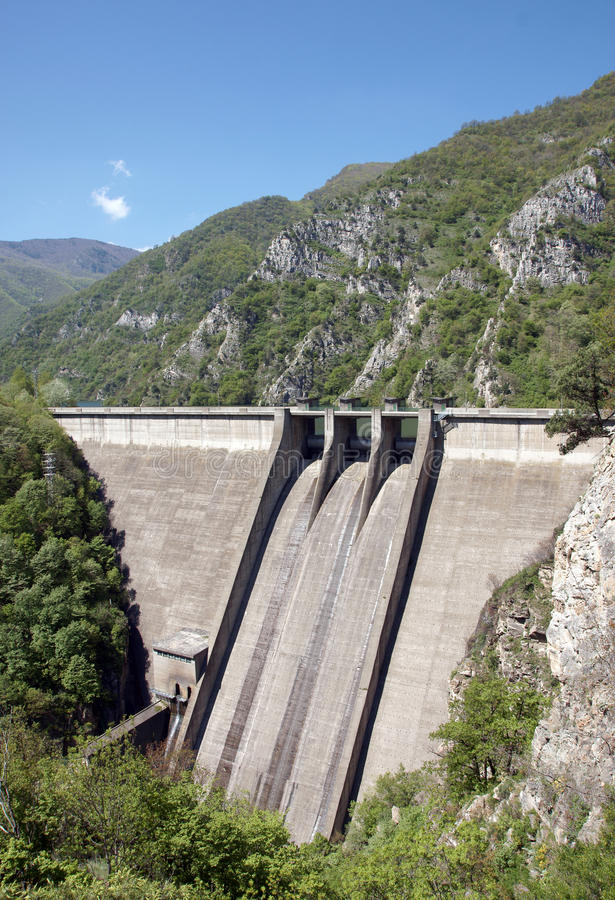 Dam wall stock image