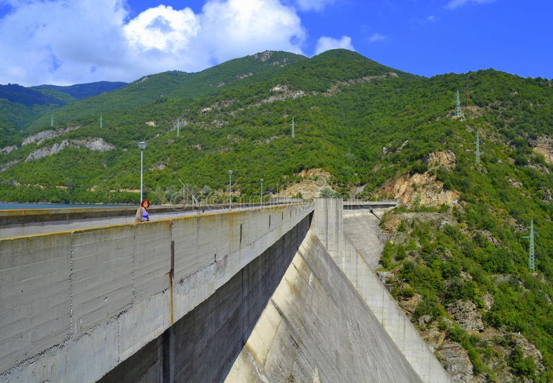 Dam wall stock photo