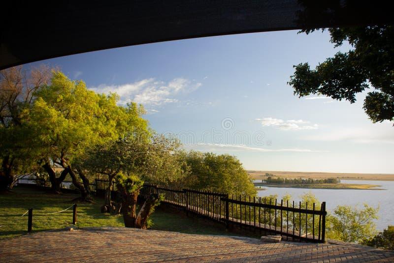 Dam at Willem Pretorius Game Reserve royalty free stock image