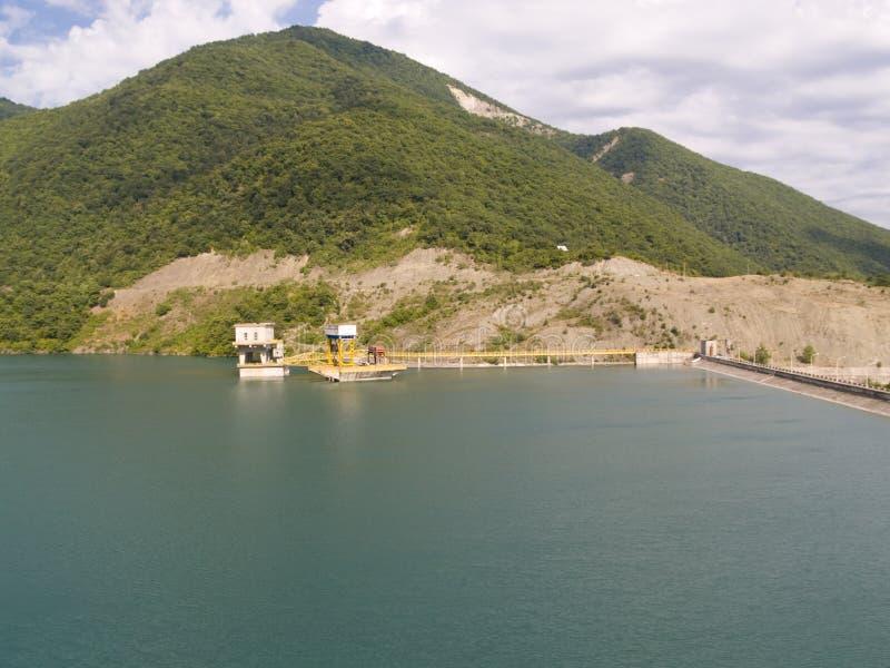 Dam on Zhinvali lake. stock image