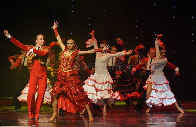 Dama hiszpańszczyzny flamenco Austria światowy taniec fotografia stock