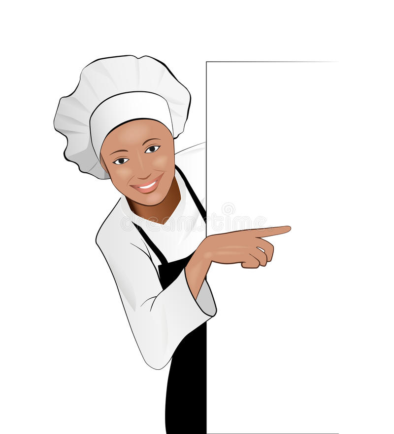 Dama kucharz ilustracji