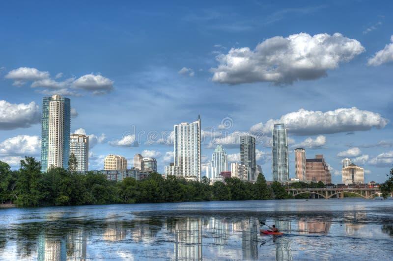 Dama Ptasi jezioro, Austin, Teksas obraz royalty free
