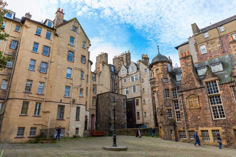 Dama schodki Zamknięci w Edynburg, Szkocja obraz stock