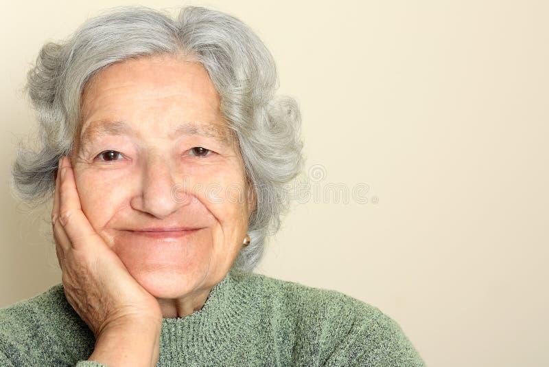Dama starszy portret zdjęcie stock