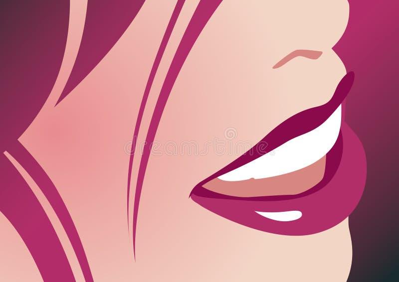 dama uśmiech