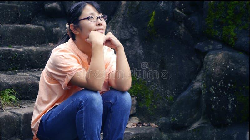 Dama w naturze zdjęcia stock