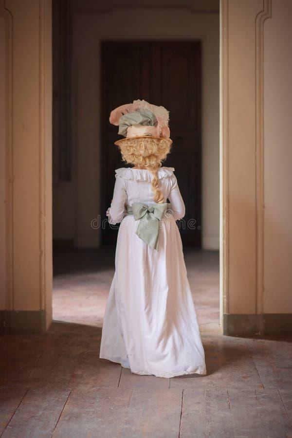 Dama w wiktoriański sukni zdjęcie royalty free