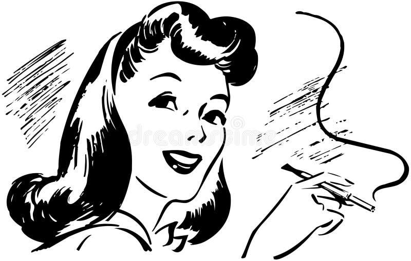 Dama Z Papierosowym właścicielem ilustracji