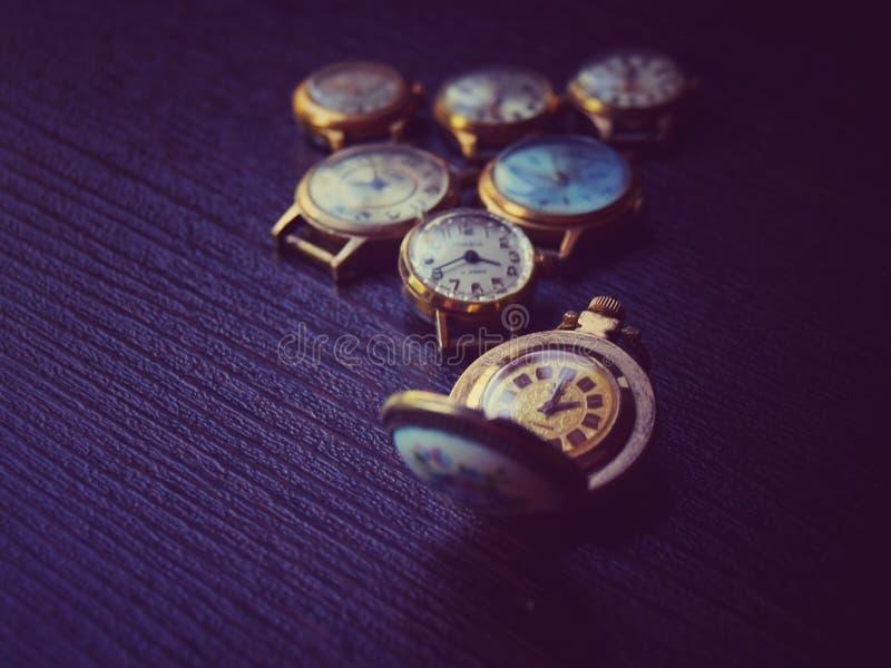 Dama zegarek w retro w górę zdjęcie stock