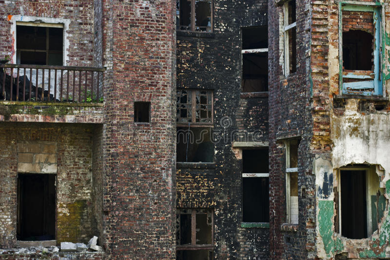 Download Damage In City Of Industry, Ruined Brick Building Stock Image - Image: 19905997